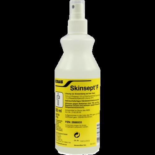 Verpackungsbild(Packshot) von SKINSEPT F Hände- u.Hautdesinfektion Sprühflasche