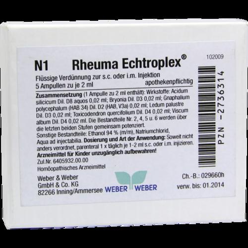 Verpackungsbild(Packshot) von RHEUMA ECHTROPLEX Injektionslösung