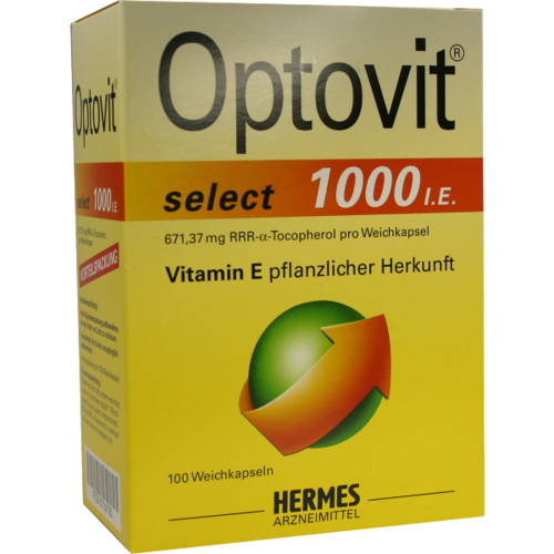 Verpackungsbild(Packshot) von OPTOVIT select 1.000 I.E. Kapseln