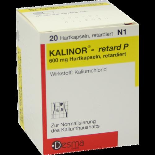 Verpackungsbild(Packshot) von KALINOR retard P 600 mg Hartkapseln