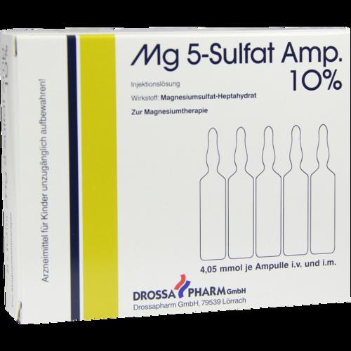 Verpackungsbild(Packshot) von MG 5 Sulfat Amp. 10% Injektionslösung