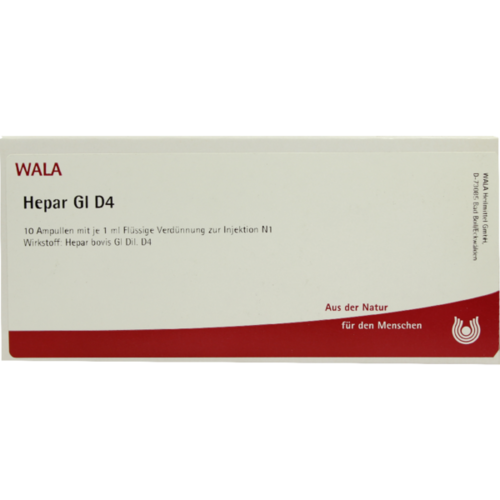Verpackungsbild(Packshot) von HEPAR GL D 4 Ampullen