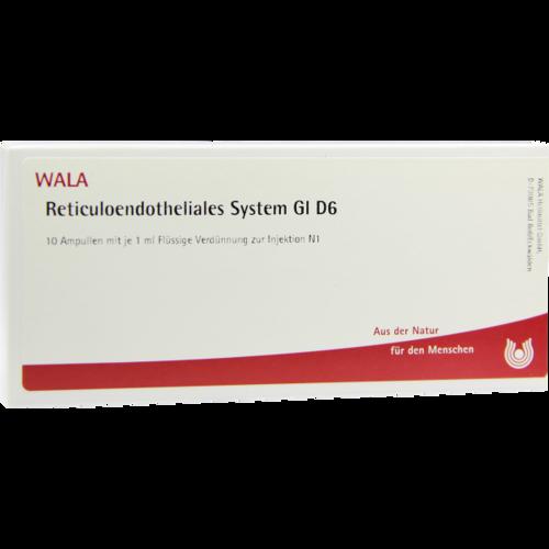 Verpackungsbild(Packshot) von RETICULOENDOTHELIALES System GL D 6 Ampullen