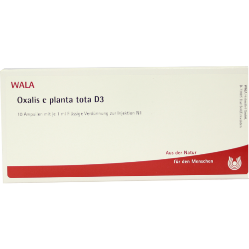 Verpackungsbild(Packshot) von OXALIS E planta tota D 3 Ampullen