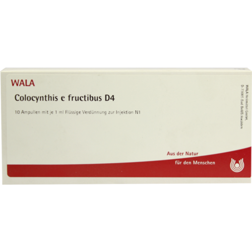 Verpackungsbild(Packshot) von COLOCYNTHIS E fructibus D 4 Ampullen