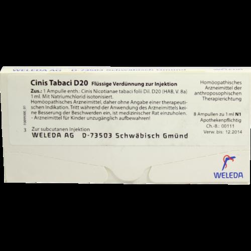 Verpackungsbild(Packshot) von CINIS TABACI D 20 Ampullen