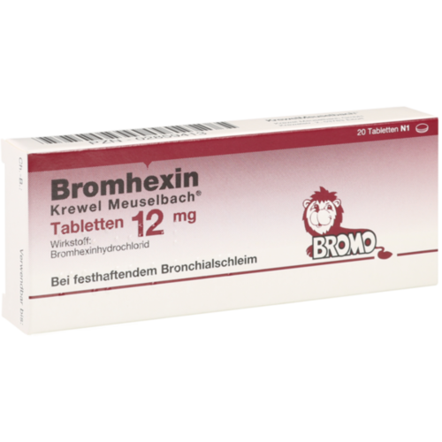 Verpackungsbild(Packshot) von BROMHEXIN Krewel Meuselb.Tabletten 12mg