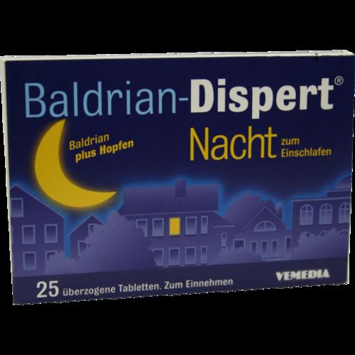 Verpackungsbild(Packshot) von BALDRIAN DISPERT Nacht zum Einschlafen üb.Tabl.