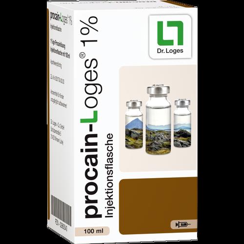 Verpackungsbild(Packshot) von PROCAIN-Loges 1% Injektionsflasche