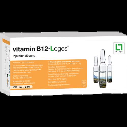 Verpackungsbild(Packshot) von VITAMIN B12-LOGES Injektionslösung Ampullen