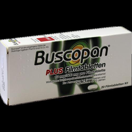 Verpackungsbild(Packshot) von BUSCOPAN plus Filmtabletten