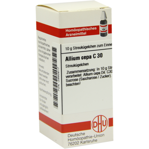 Verpackungsbild(Packshot) von ALLIUM CEPA C 30 Globuli