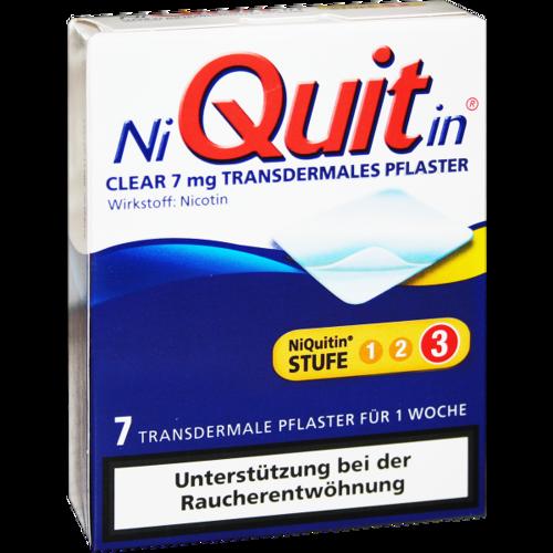 Verpackungsbild(Packshot) von NIQUITIN Clear 7 mg transdermale Pflaster