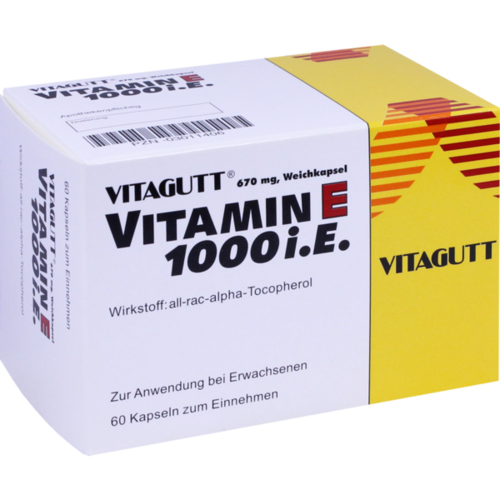Verpackungsbild(Packshot) von VITAGUTT Vitamin E 1000 Weichkapseln