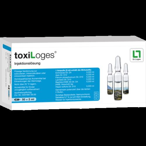 Verpackungsbild(Packshot) von TOXILOGES Injektionslösung Ampullen