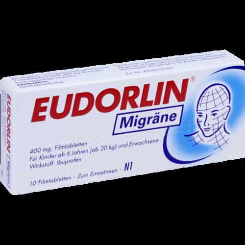 Verpackungsbild(Packshot) von EUDORLIN Migräne Filmtabletten