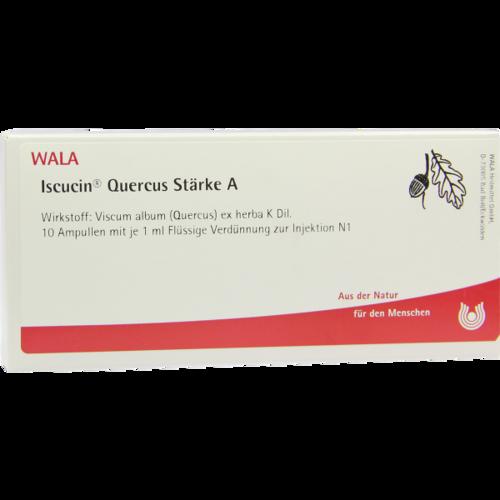 Verpackungsbild(Packshot) von ISCUCIN quercus Stärke A Ampullen