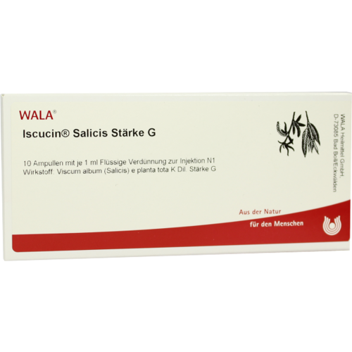 Verpackungsbild(Packshot) von ISCUCIN salicis Stärke G Ampullen