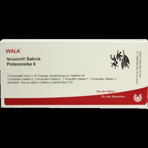 Verpackungsbild(Packshot) von ISCUCIN salicis Potenzreihe II Ampullen