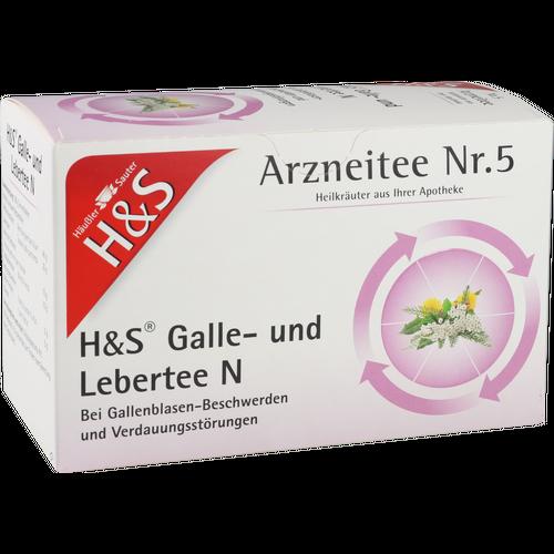 Verpackungsbild(Packshot) von H&S Galle- und Lebertee N Filterbeutel