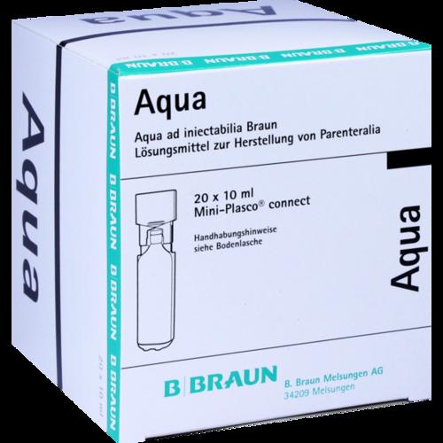 Verpackungsbild(Packshot) von AQUA AD injectabilia Miniplasco connect Inj.-Lsg.