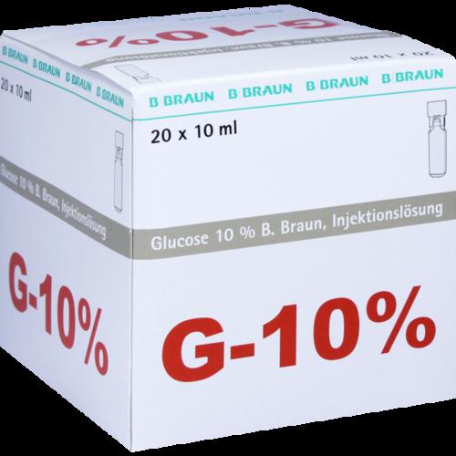 Verpackungsbild(Packshot) von GLUCOSE 10% B.Braun Mini Plasco connect Inj.-Lsg.