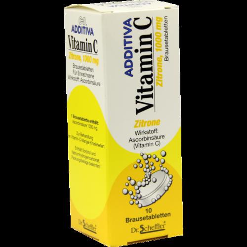 Verpackungsbild(Packshot) von ADDITIVA Vitamin C Brausetabletten