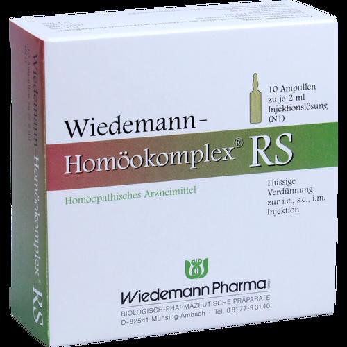 Verpackungsbild(Packshot) von WIEDEMANN Homöokomplex RS Ampullen
