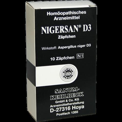 Verpackungsbild(Packshot) von NIGERSAN D 3 Suppositorien