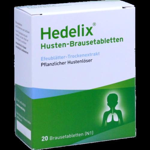 Verpackungsbild(Packshot) von HEDELIX Husten-Brausetabletten