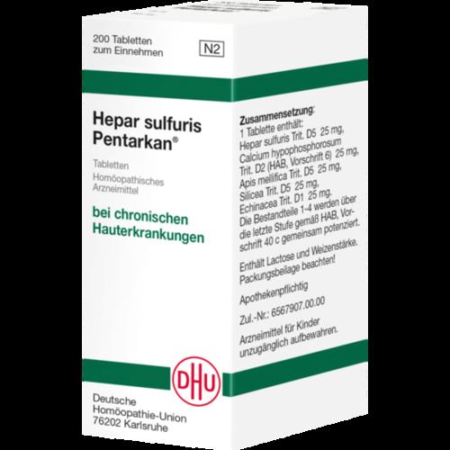 Verpackungsbild(Packshot) von HEPAR SULFURIS PENTARKAN Tabletten