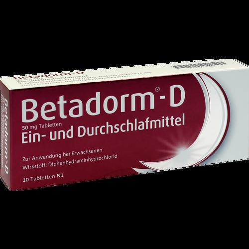 Verpackungsbild(Packshot) von BETADORM D Tabletten