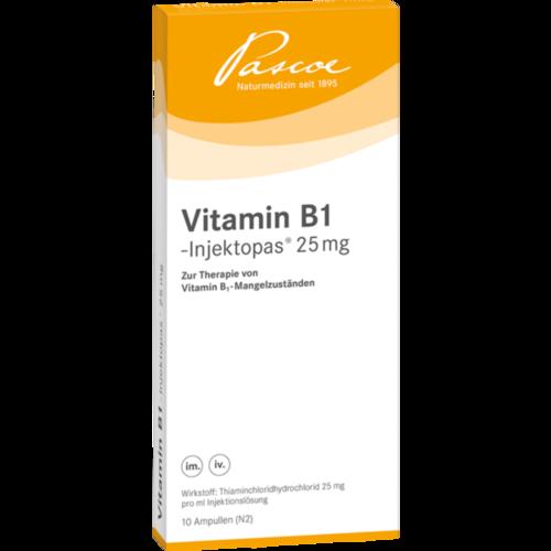 Verpackungsbild(Packshot) von VITAMIN B1 INJEKTOPAS 25 mg Injektionslösung
