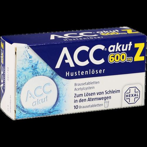 Verpackungsbild(Packshot) von ACC akut 600 Z Hustenlöser Brausetabletten