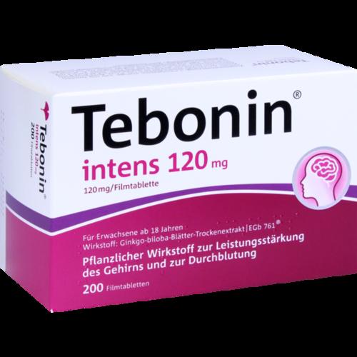 Verpackungsbild(Packshot) von TEBONIN intens 120 mg Filmtabletten
