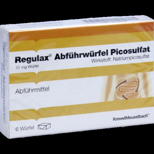 Verpackungsbild(Packshot) von REGULAX Abführwürfel Picosulfat