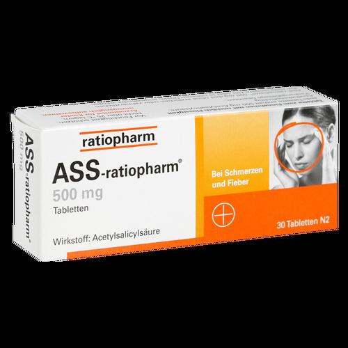 Verpackungsbild(Packshot) von ASS-ratiopharm 500 mg Tabletten