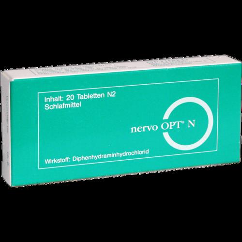 Verpackungsbild(Packshot) von NERVO OPT N Tabletten