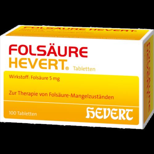 Verpackungsbild(Packshot) von FOLSÄURE HEVERT Tabletten
