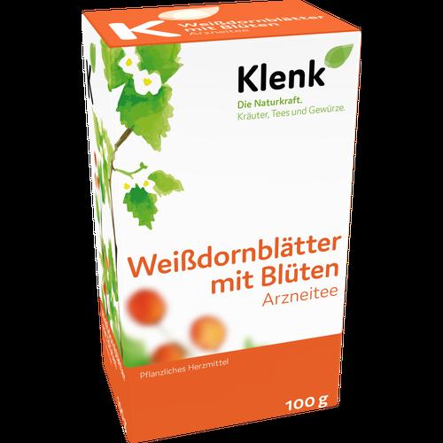 Verpackungsbild(Packshot) von WEISSDORNBLÄTTER m.Blüten Tee