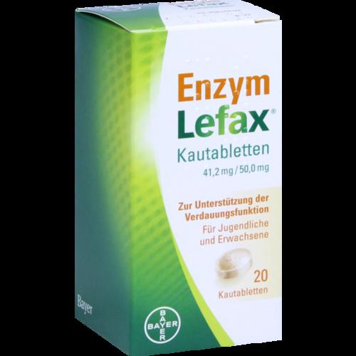 Verpackungsbild(Packshot) von ENZYM LEFAX Kautabletten