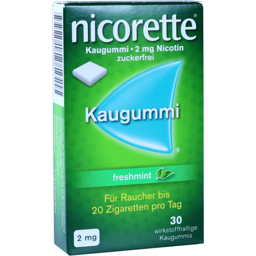 Verpackungsbild(Packshot) von NICORETTE 2 mg freshmint Kaugummi