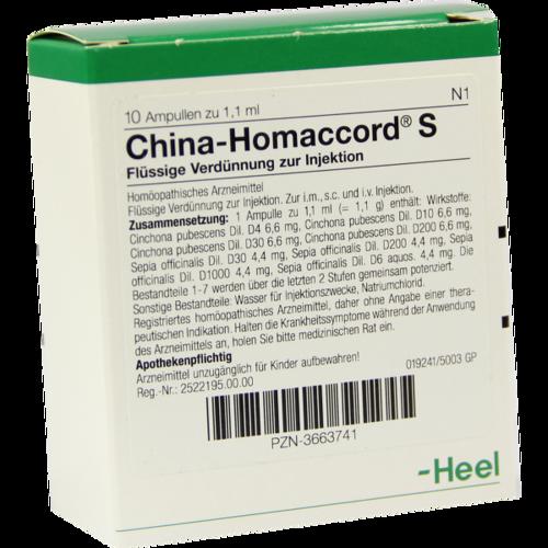 Verpackungsbild(Packshot) von CHINA HOMACCORD S Ampullen