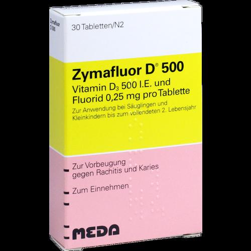 Verpackungsbild(Packshot) von ZYMAFLUOR D 500 Tabletten