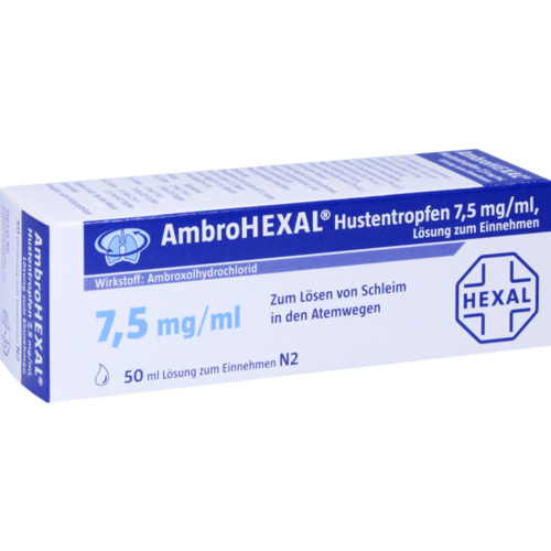 Verpackungsbild(Packshot) von AMBROHEXAL Hustentropfen 7,5 mg/ml
