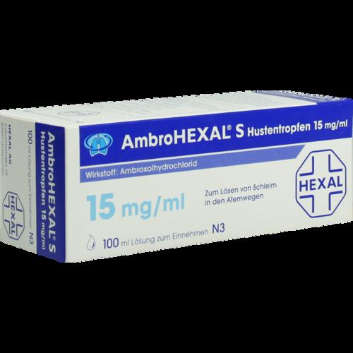 Verpackungsbild(Packshot) von AMBROHEXAL S Hustentropfen 15 mg/ml