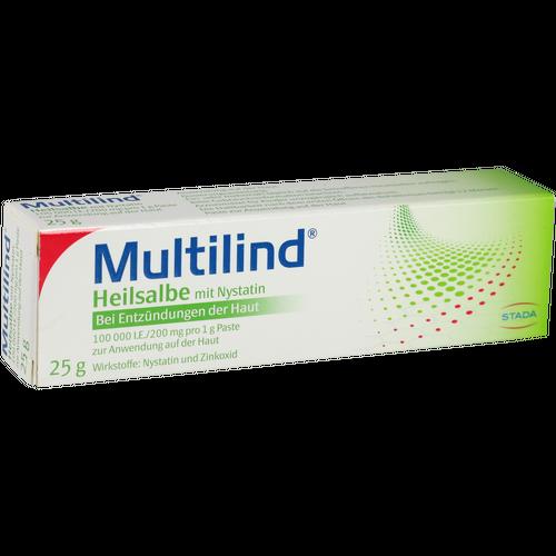 Verpackungsbild(Packshot) von MULTILIND Heilsalbe m.Nystatin u.Zinkoxid