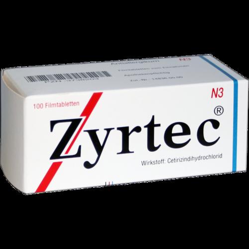 Verpackungsbild(Packshot) von ZYRTEC Filmtabletten