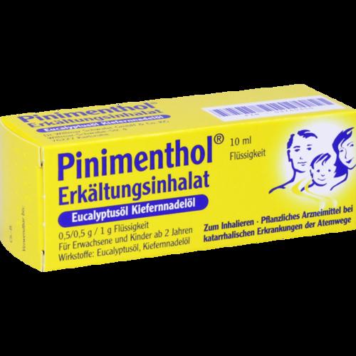 Verpackungsbild(Packshot) von PINIMENTHOL Erkält.Inhalat Eucal.-/Kiefernadelöl