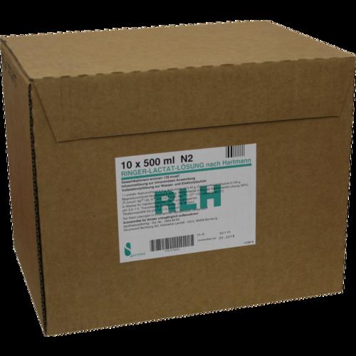 Verpackungsbild(Packshot) von RINGER LACTAT Lösung PE-Flaschen